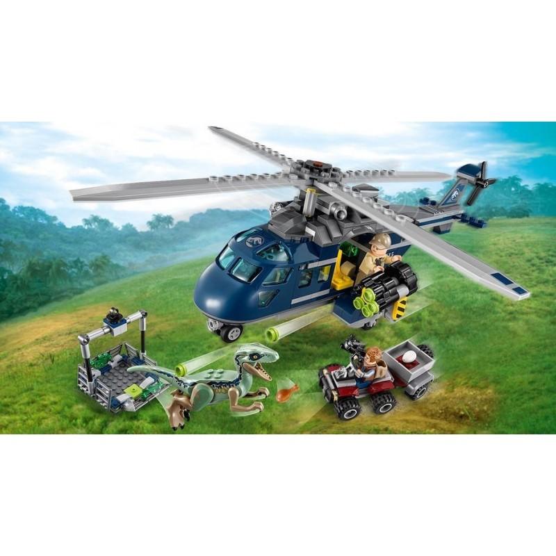 LEGO Jurassic World 75928 Prenasledovanie Bluea helikoptérou