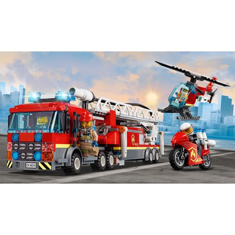 LEGO City 60216 Zásah hasičov v centre