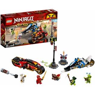 LEGO Ninjago 70667 Kaiova ozbrojená motorka a Zanov snežný skúter